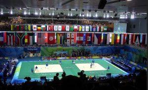 Judokilpailuun osallistuvien maiden lippuja